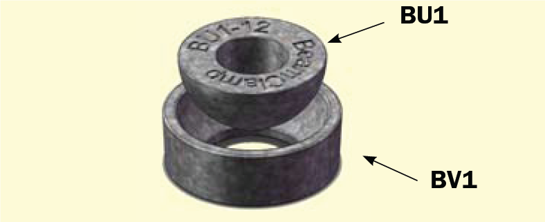 BU/BV Hemispherical Cups and Washers